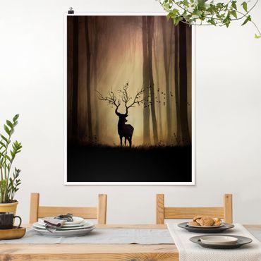 Poster - Der Herr des Waldes - Hochformat 3:4