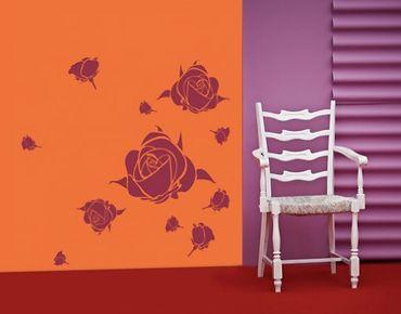 Wandtattoo Rose No.UL195 Rosengrüße