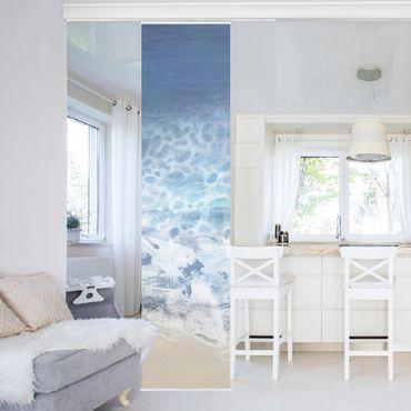 Schiebegardinen Set - Ebbe und Flut in Farbe II - Flächenvorhang