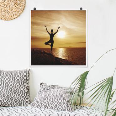 Poster - Yoga - Quadrat 1:1