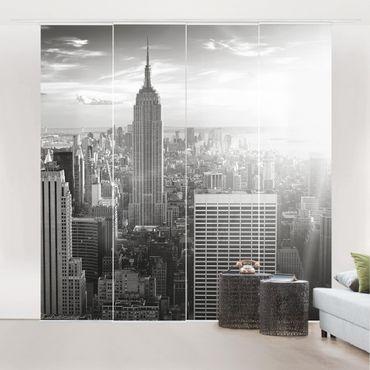 Schiebegardinen Set - Manhattan Skyline - Flächenvorhänge