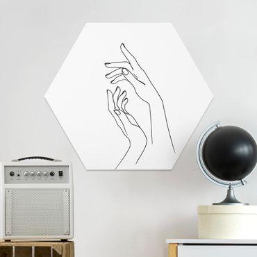 Hexagon Bild Forex - Line Art Hände