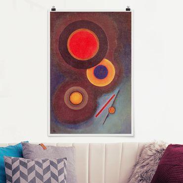 Poster - Wassily Kandinsky - Kreise und Linien - Hochformat 3:2