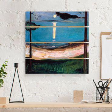 Holzbild - Edvard Munch - Mondnacht - Quadrat 1:1