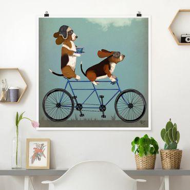 Poster - Radtour - Bassets Tandem - Quadrat 1:1