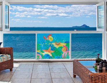 Fensterfolie - Sichtschutz Fenster Unterwasserwelt - Fensterbilder