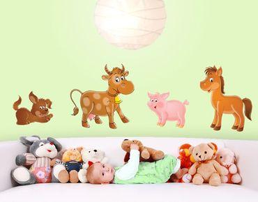 Wandtattoo Babyzimmer Hund Tiere No.71 Bauernhof Set