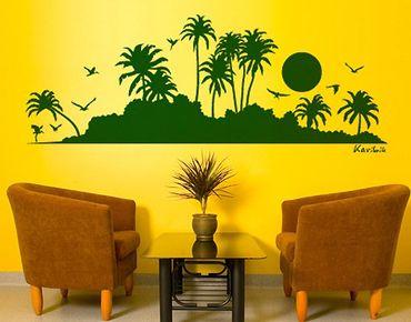 Wandtattoo Baum No.SF494 Karibik Silhouette