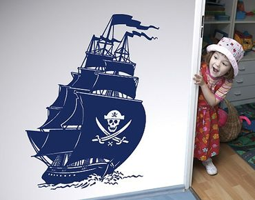 Wandtattoo Kinderzimmer No.SF506 Piratenschiff