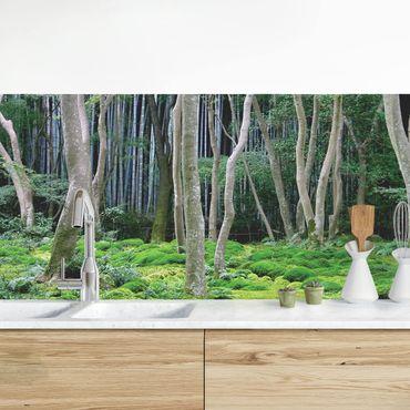Küchenrückwand - Japanischer Wald