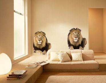 Wandtattoo Löwe No.165 Zwei Löwen