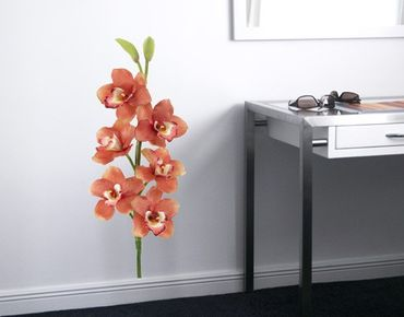 Wandtattoo Orchidee No.179 Orchidee Rot I