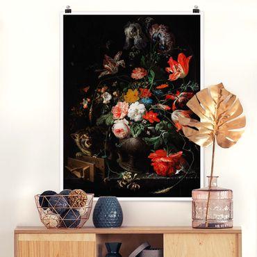 Poster - Abraham Mignon - Das umgeworfene Bouquet - Hochformat 4:3