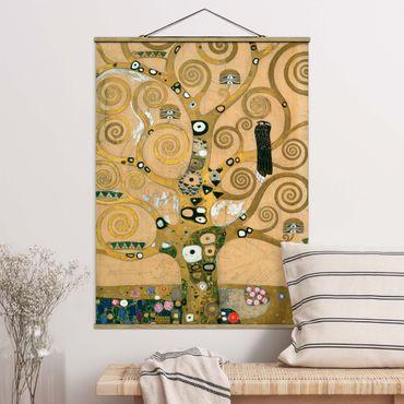 Stoffbild mit Posterleisten - Gustav Klimt - Der Lebensbaum - Hochformat 3:4