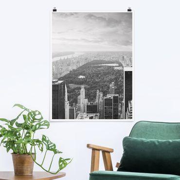 Poster - Blick über den Central Park II - Hochformat 3:4