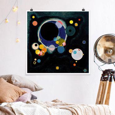 Poster - Wassily Kandinsky - Skizze Kreise - Quadrat 1:1