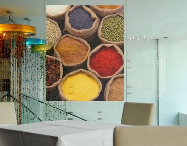 Fensterfolie - Sichtschutz Fenster Colourful Spices - Fensterbilder