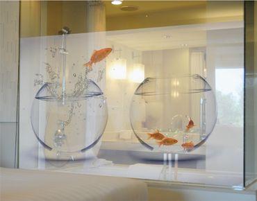 Fensterfolie - Sichtschutz Fenster Flying Goldfish - Fensterbilder