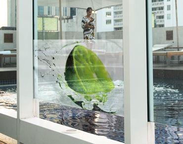 Fensterfolie - Sichtschutz Fenster Splash Lime - Fensterbilder