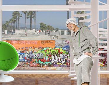 Fensterfolie - Sichtschutz Fenster Graffiti - Fensterbilder
