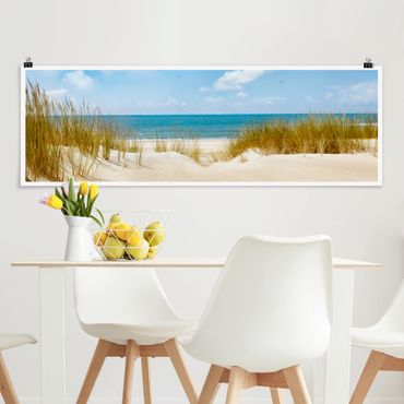 Poster - Strand an der Nordsee - Panorama Querformat