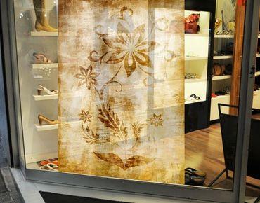 Fensterfolie - Sichtschutz Fenster Wooden Flower - Fensterbilder