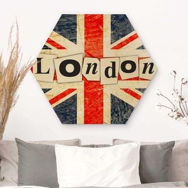 Hexagon Bild Holz - Yeah London
