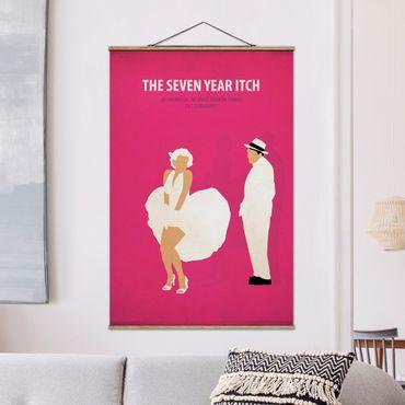 Stoffbild mit Posterleisten - Filmposter The seven year itch - Hochformat 2:3