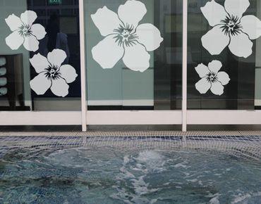 Fensterfolie - Fenstertattoo No.UL476 Hibiskusblüten - Milchglasfolie