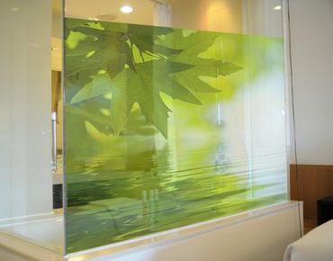 Fensterfolie - Sichtschutz Fenster Green Ambiance III - Fensterbilder