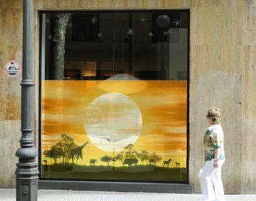 Fensterfolie - Sichtschutz Fenster No.CG9 Savannah Sunset - Fensterbilder