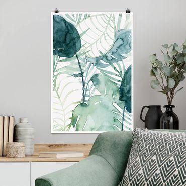 Poster - Palmwedel in Wasserfarbe II - Hochformat 3:2