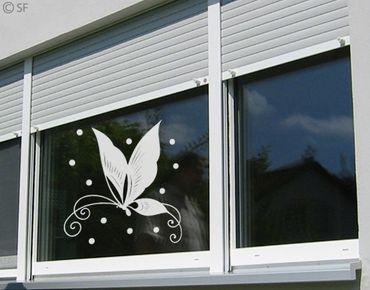 Fensterfolie - Fenstertattoo No.SF872 Chinafly - Milchglasfolie