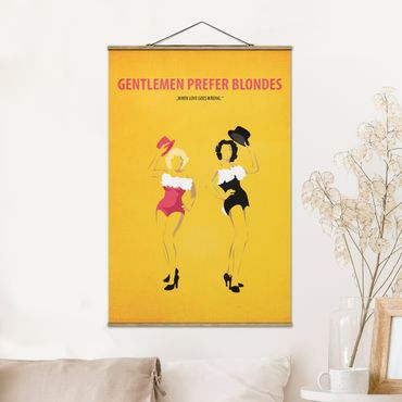 Stoffbild mit Posterleisten - Filmposter Gentlemen prefer blondes - Hochformat 3:2