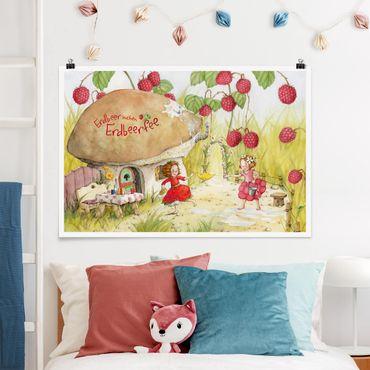 Poster - Erdbeerinchen Erdbeerfee - Unter dem Himbeerstrauch - Querformat 2:3