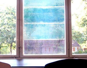 Fensterfolie - Sichtschutz Fenster Colour Harmony Blue - Fensterbilder