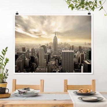 Poster - Manhattan Dawn - Querformat 3:4