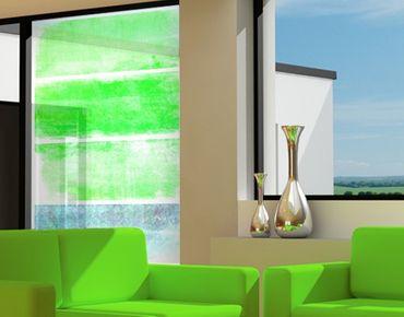 Fensterfolie - Sichtschutz Fenster Colour Harmony Green - Fensterbilder