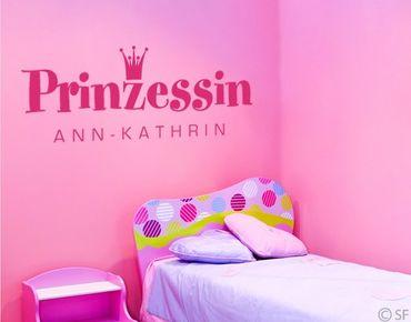 Wandtattoo Sprüche - Wandtattoo Namen No.SF880 Wunschtext Prinzessin