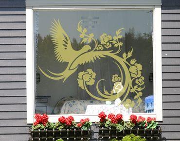 Fensterfolie - Fenstertattoo No.15 Zauber Taube - Milchglasfolie