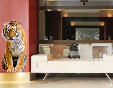 Wandtattoo Tiger No.272 Sitzender Tiger