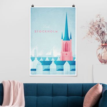 Poster - Reiseposter - Stockholm - Hochformat 3:2