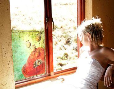 Fensterfolie - Sichtschutz Fenster Poppy Stalks - Fensterbilder