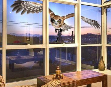 Fensterfolie - Fenstersticker No.377 Nocturnal Hunter - Fensterbilder