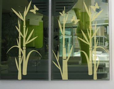 Fensterfolie - Fenstertattoo No.75 Bambus - Milchglasfolie