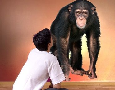Wandtattoo Affe No.290 Aufmerksamer Affe