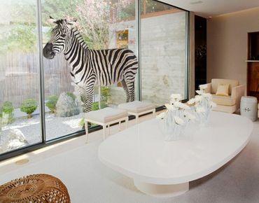 Fensterfolie - Fenstersticker No.387 Dickes Zebra - Fensterbilder