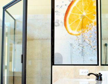 Fensterfolie - Sichtschutz Fenster Splash Orange - Fensterbilder