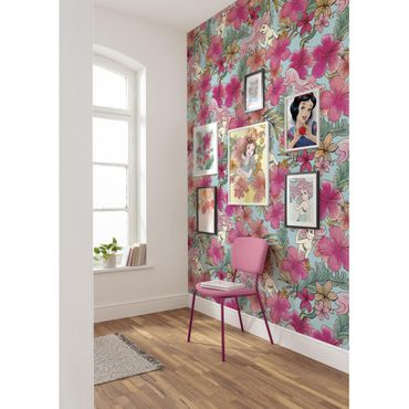 Disney Kindertapete - Ariel - Pink Flower - Komar Fototapete