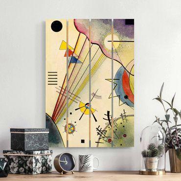 Holzbild - Wassily Kandinsky - Deutliche Verbindung - Hochformat 3:2